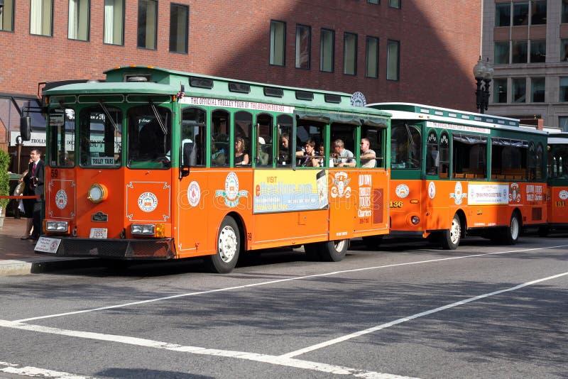 boston turisttrolley arkivbild