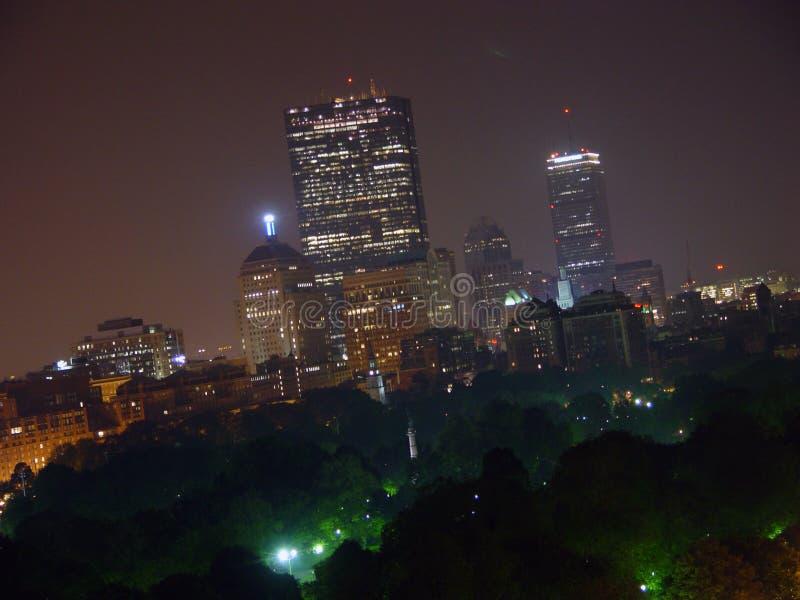 Boston Twilight Skyline stock photo