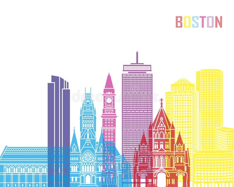 Boston_V2地平线流行音乐 皇族释放例证