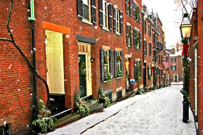boston vinter arkivbilder
