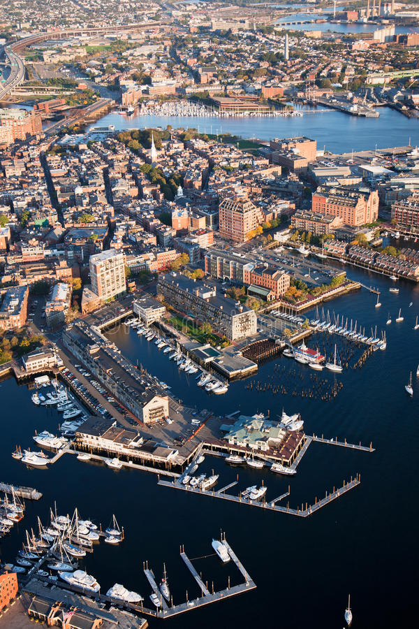 Download Boston Wharf stock photo. Image of morning, water, landscape - 26129096