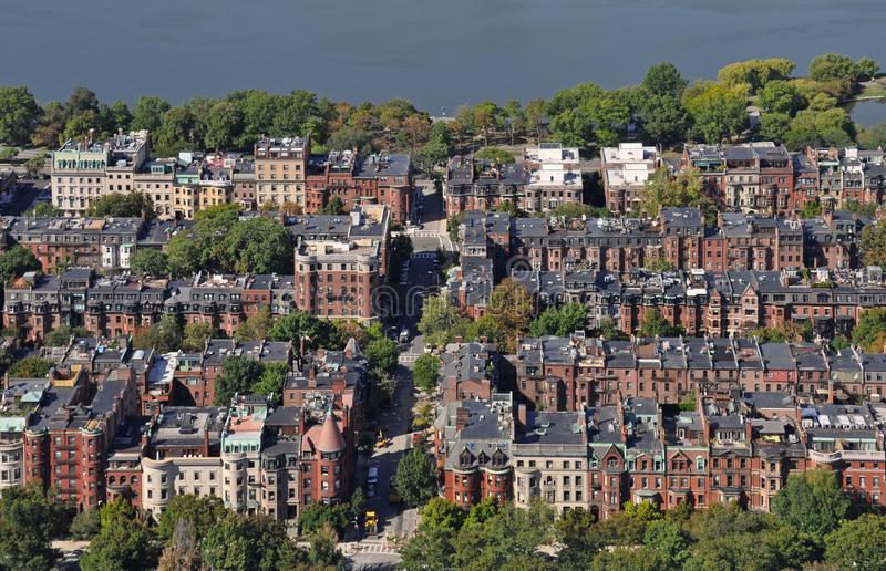 Boston widok od Prudential centrum zdjęcia royalty free