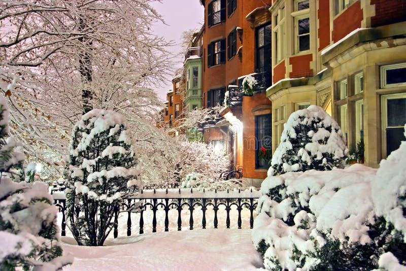 Boston-Winter lizenzfreies stockbild