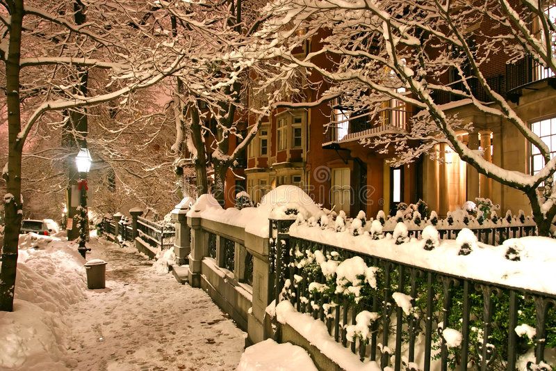 Boston Winter royalty free stock photos