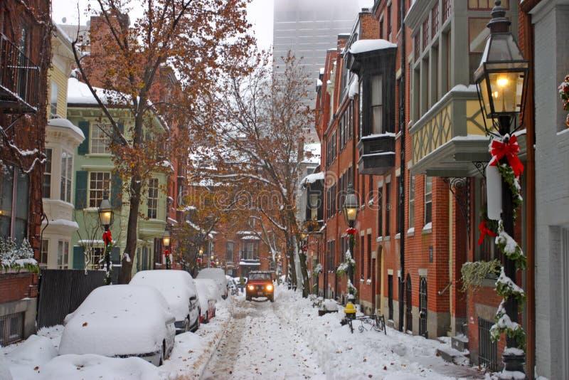 Boston Winter stock photos