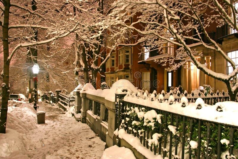 boston zimy. zdjęcia royalty free