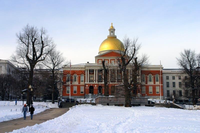 boston zimy. obraz royalty free