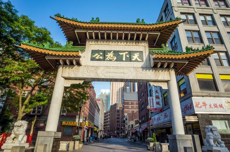 Bostons Chinatown lizenzfreie stockfotos