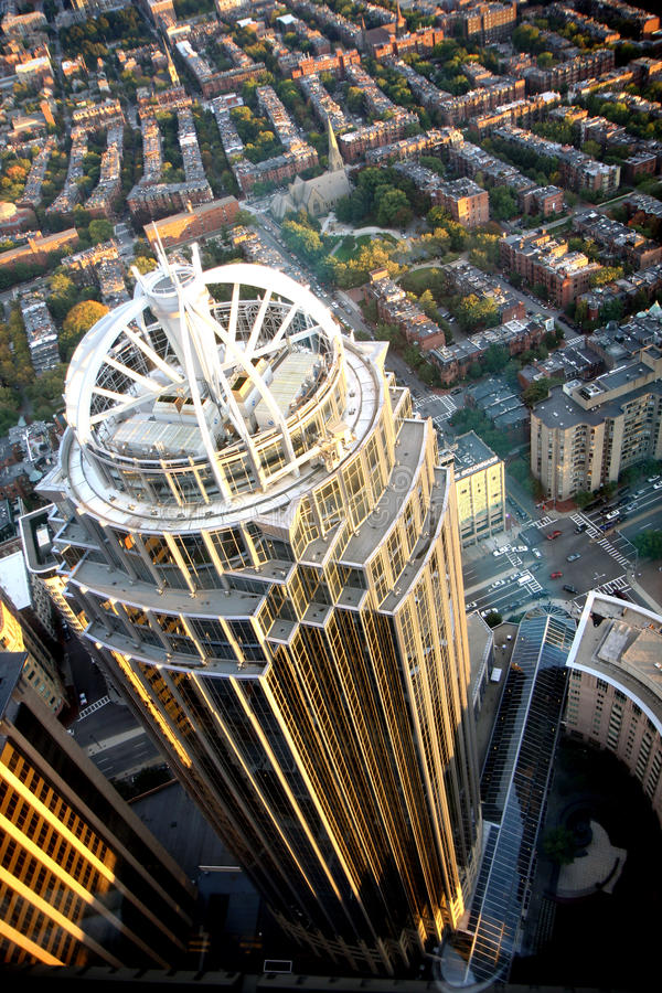 Bostons Panorama vom vernünftigen Kontrollturm stockbild