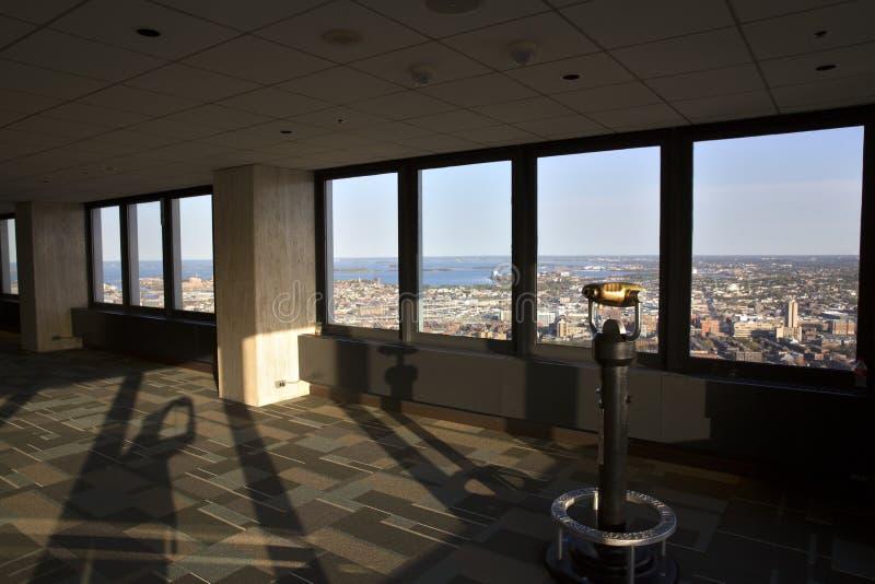 Bostons Panoramablick, wie es vom vernünftigen Turm gesehen wird stockfoto