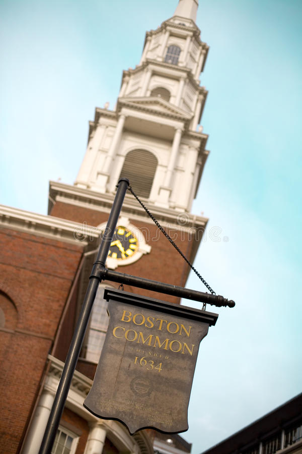 bostonu błonia znak zdjęcia royalty free
