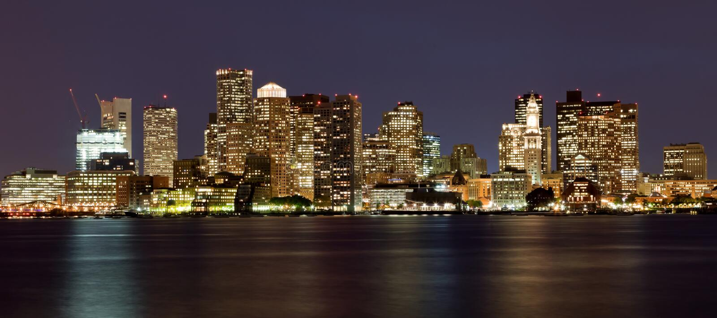 bostonu Massachusetts linia horyzontu usa obraz royalty free