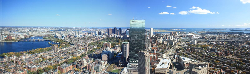 bostonu panoramy linia horyzontu fotografia stock