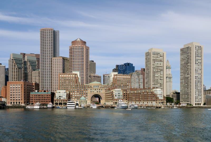 bostonu schronienia linia horyzontu obrazy stock