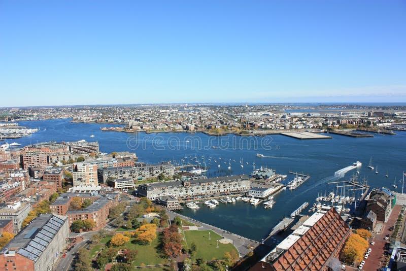 bostonu schronienia linia horyzontu zdjęcia stock