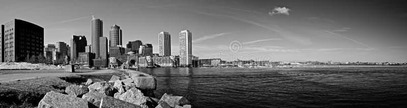 bostonu schronienia panorama zdjęcia royalty free