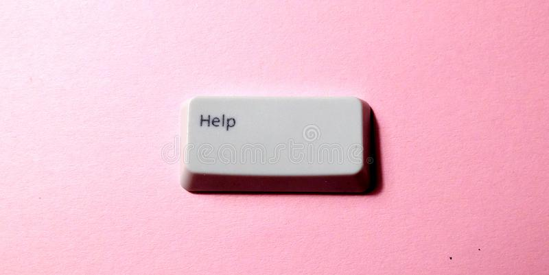Botão da chave de computador com a palavra imagem de stock