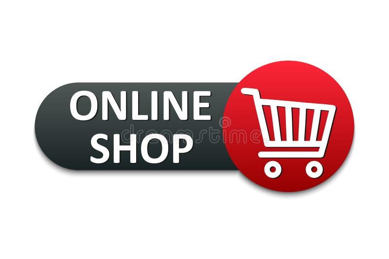 """Botón moderno de la tienda Icono del carro de la tienda, símbolo de la compra Vector del †del icono de la cesta de compras """" libre illustration"""