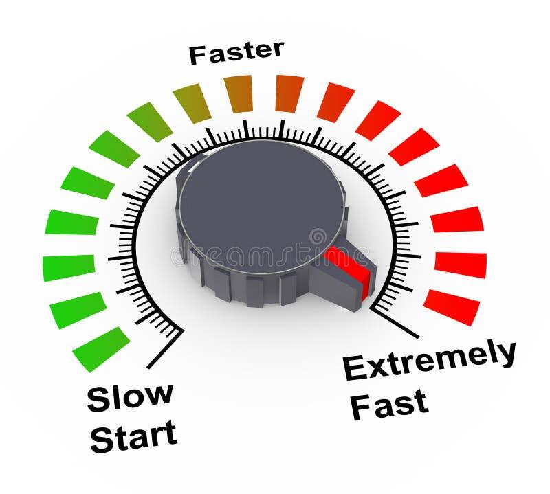 botão 3d - rápido, mais rapidamente e o mais rapidamente ilustração royalty free