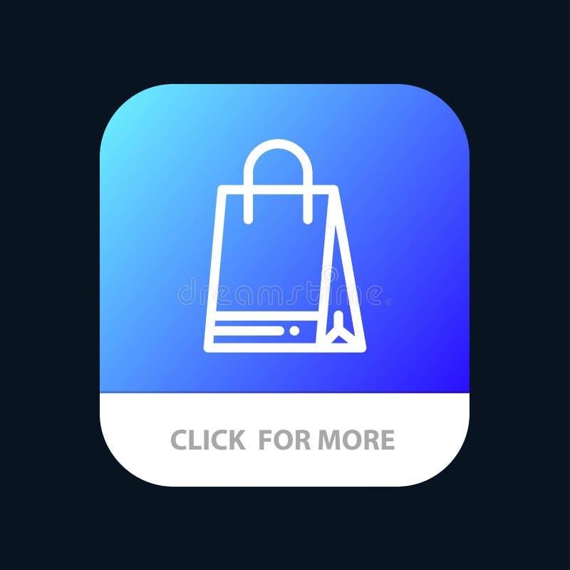 Botão Aplicativo Móvel Canadá, Bolsa, Compras Versão do Android e da Linha IOS ilustração stock