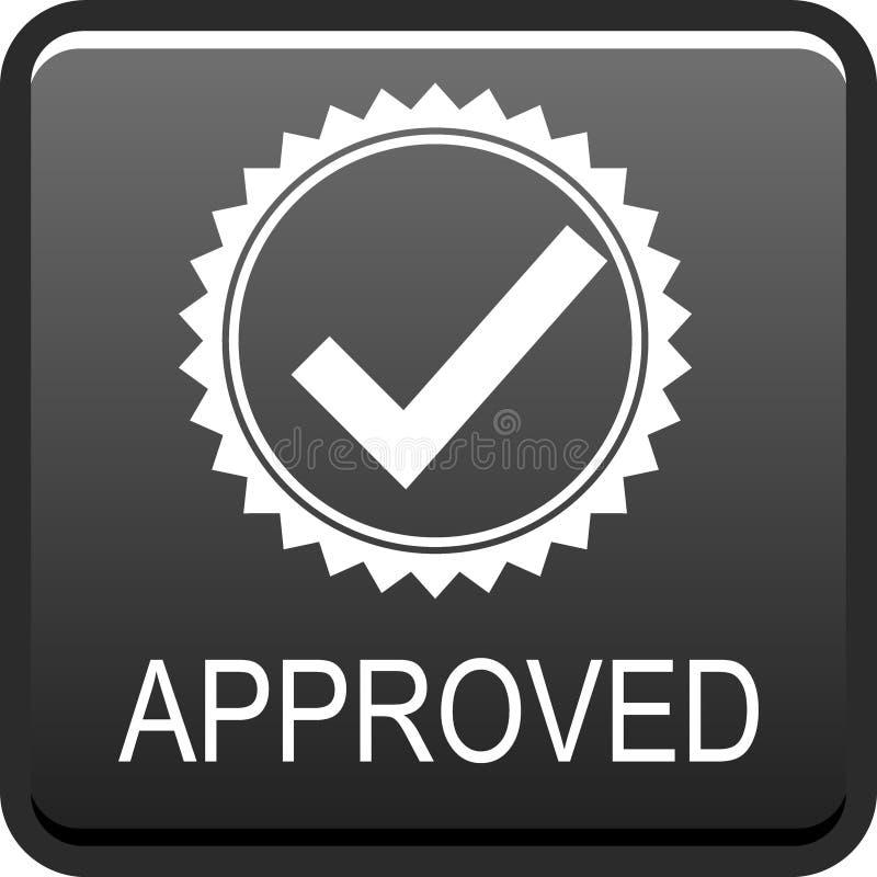 Botão aprovado da Web ilustração do vetor