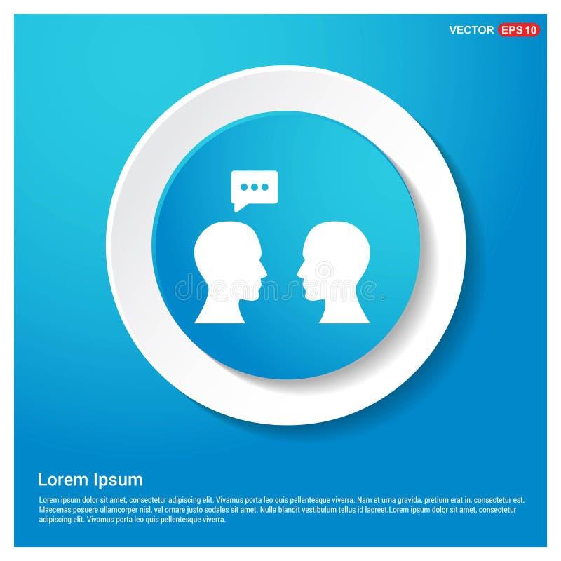 Botão azul da etiqueta da Web do sumário do ícone da bolha do discurso ilustração royalty free