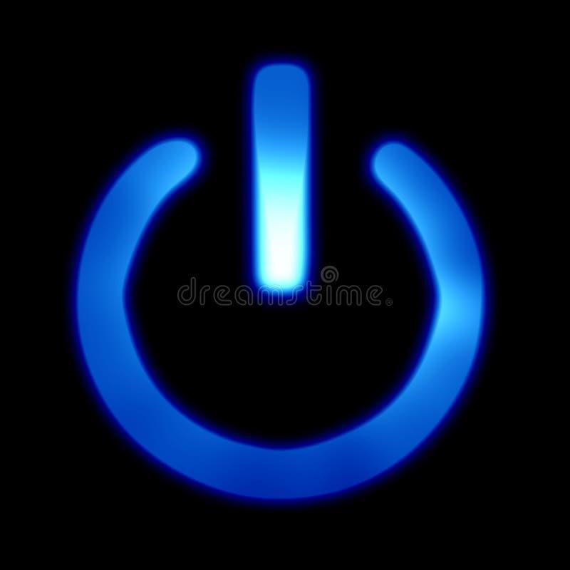 Botão azul da potência ilustração do vetor