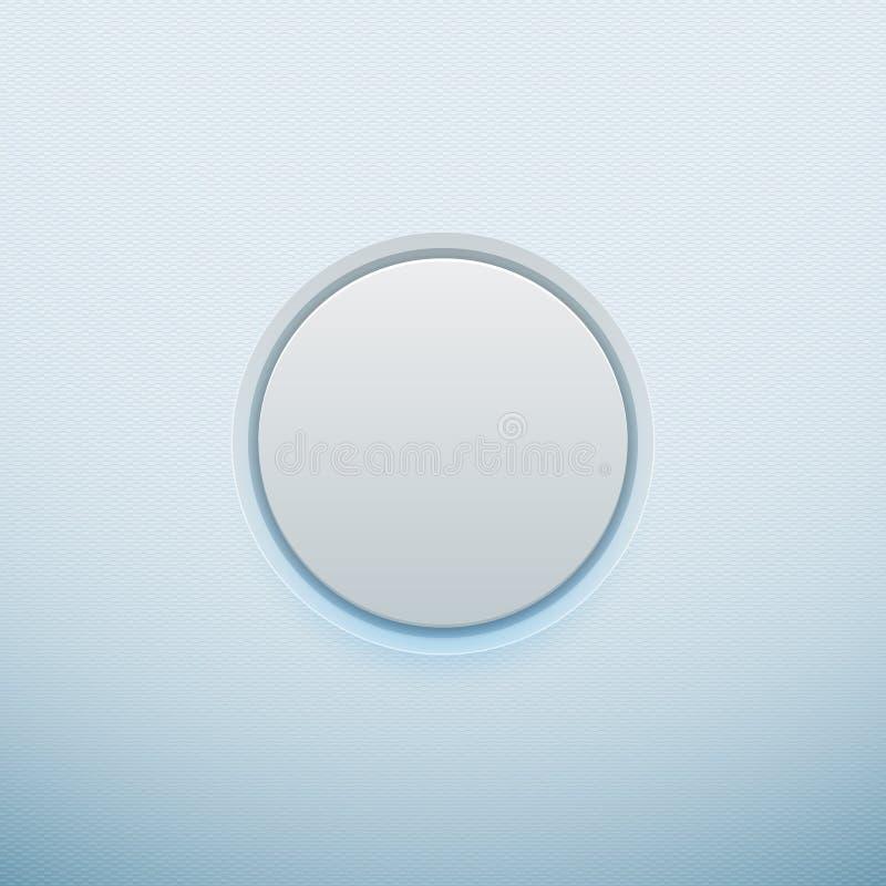 Botão branco Ilustração do vetor ilustração do vetor