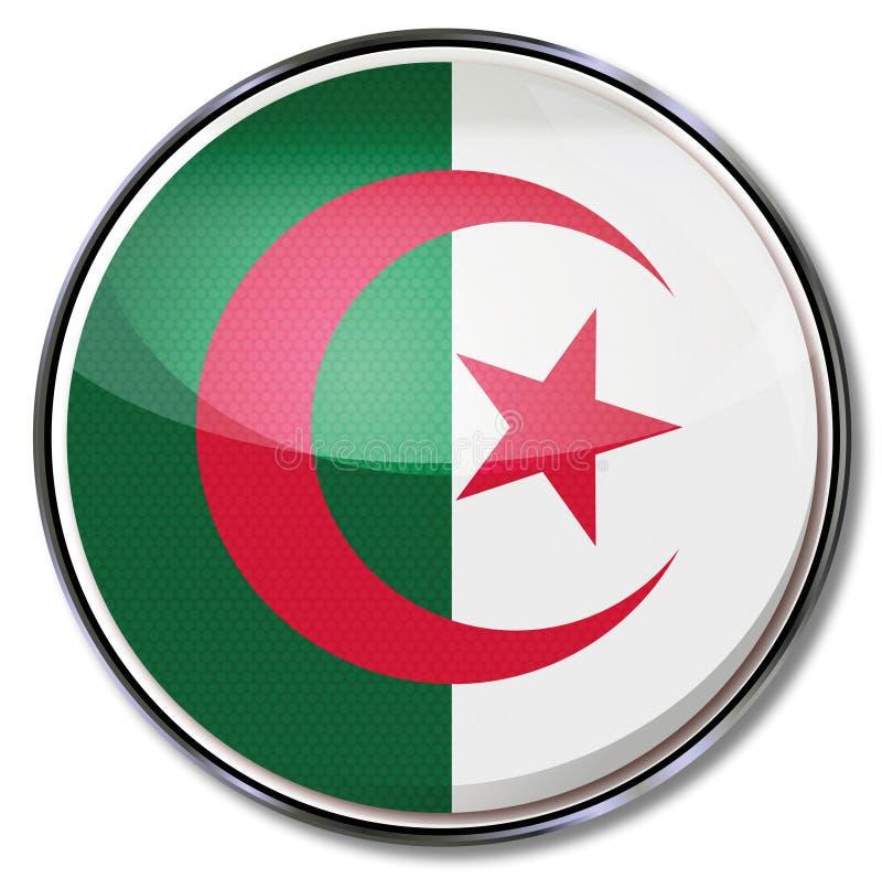 Botão com Argélia ilustração royalty free