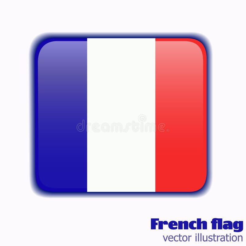 Botão com a bandeira de França Vetor ilustração royalty free