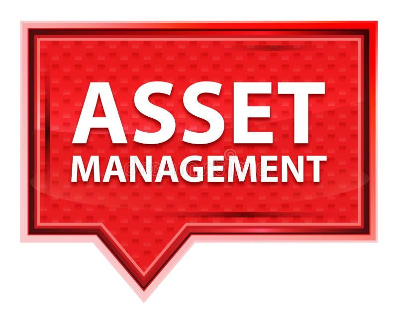 Botão cor-de-rosa cor-de-rosa enevoado da bandeira de Asset Management ilustração do vetor