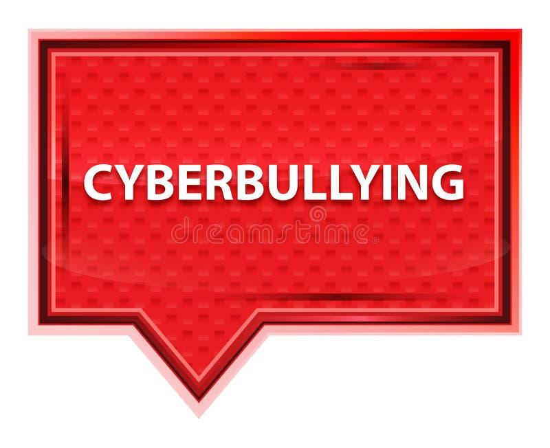 Botão cor-de-rosa cor-de-rosa enevoado da bandeira de Cyberbullying ilustração royalty free
