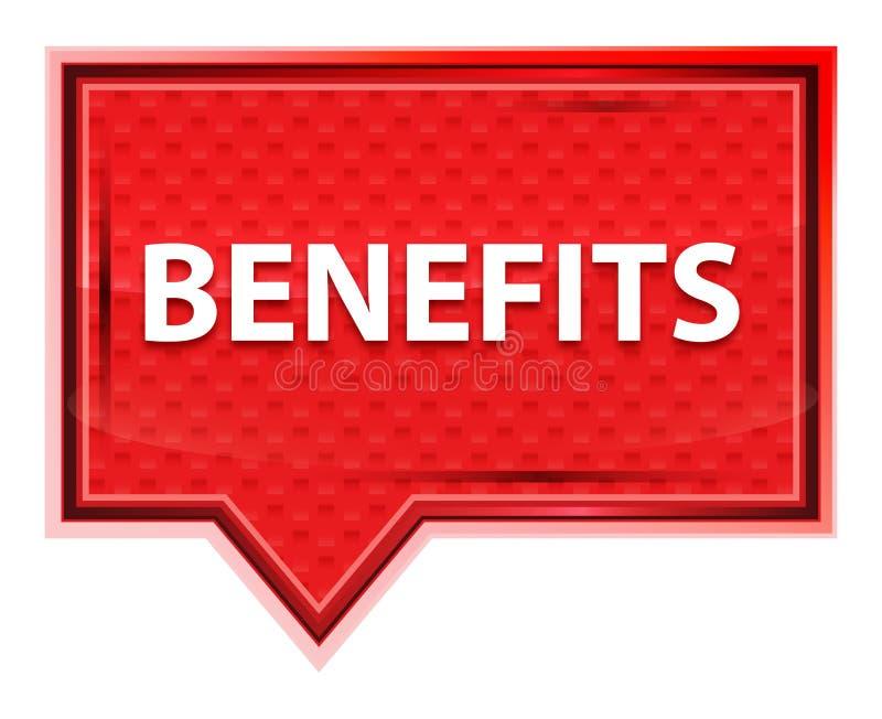 Botão cor-de-rosa cor-de-rosa enevoado da bandeira dos benefícios ilustração stock