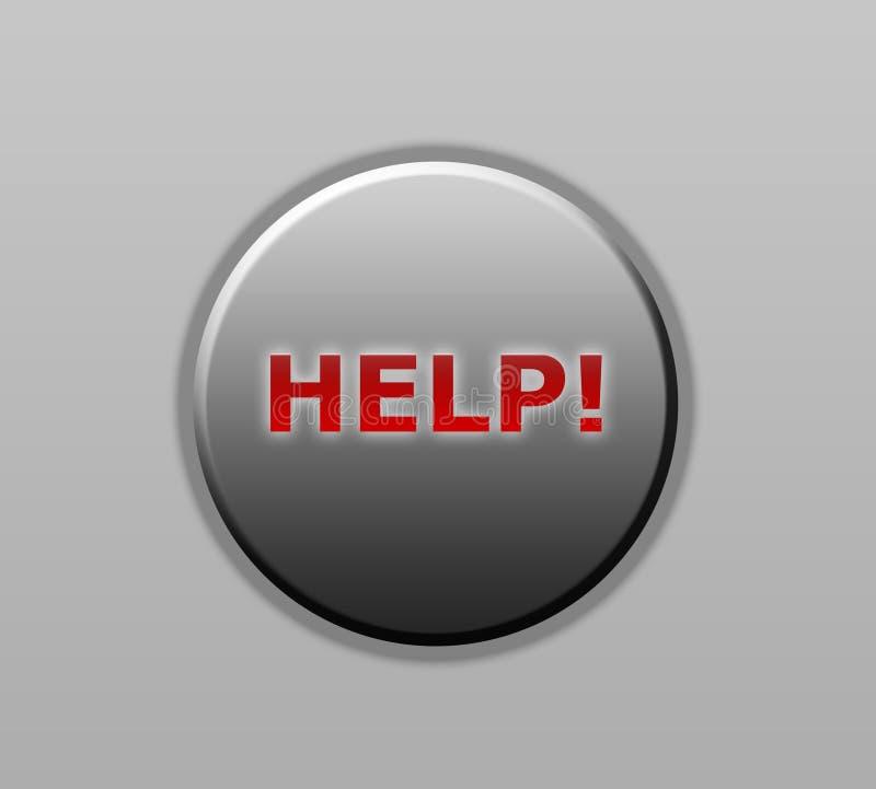 Botão da ajuda fotografia de stock