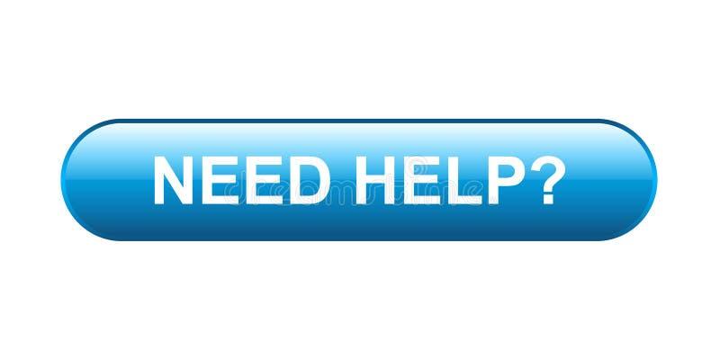 Botão da ajuda da necessidade ilustração royalty free