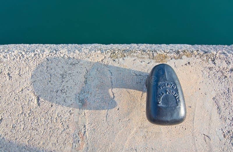 Botão da amarração com texto no porto dos portais de Puerto foto de stock royalty free