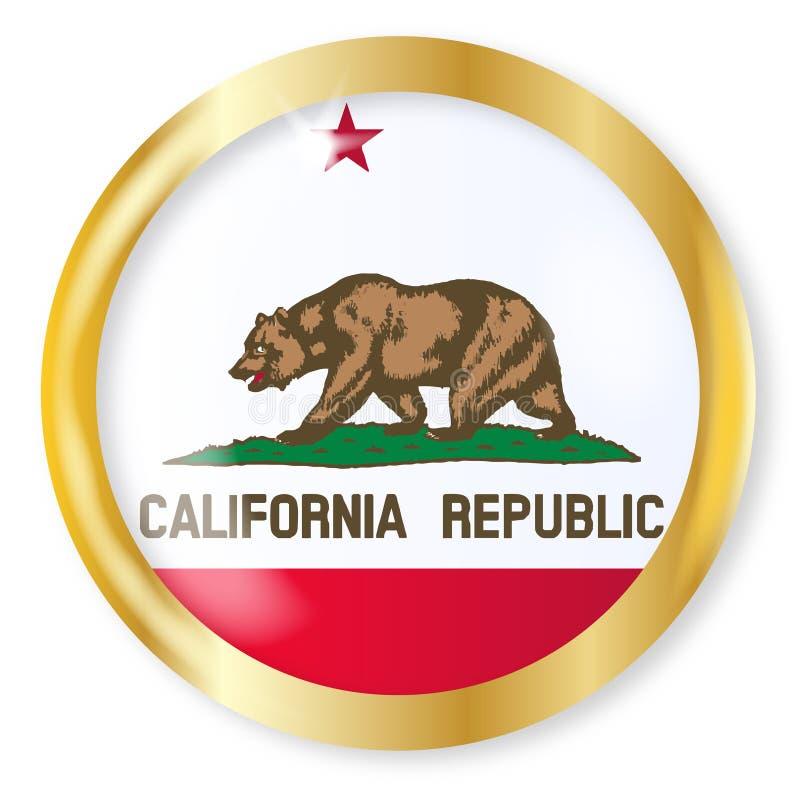 Botão da bandeira de Califórnia ilustração do vetor