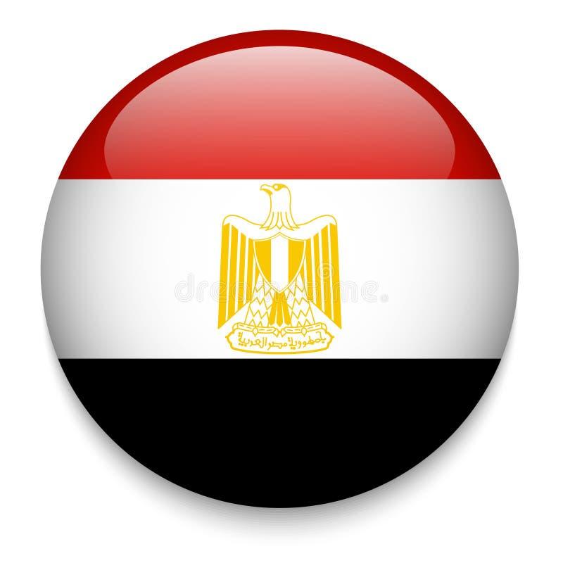 Botão da bandeira de Egito ilustração royalty free