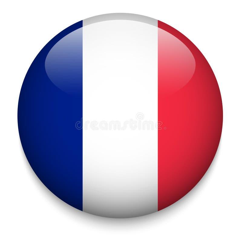 Botão da bandeira de FRANÇA ilustração do vetor
