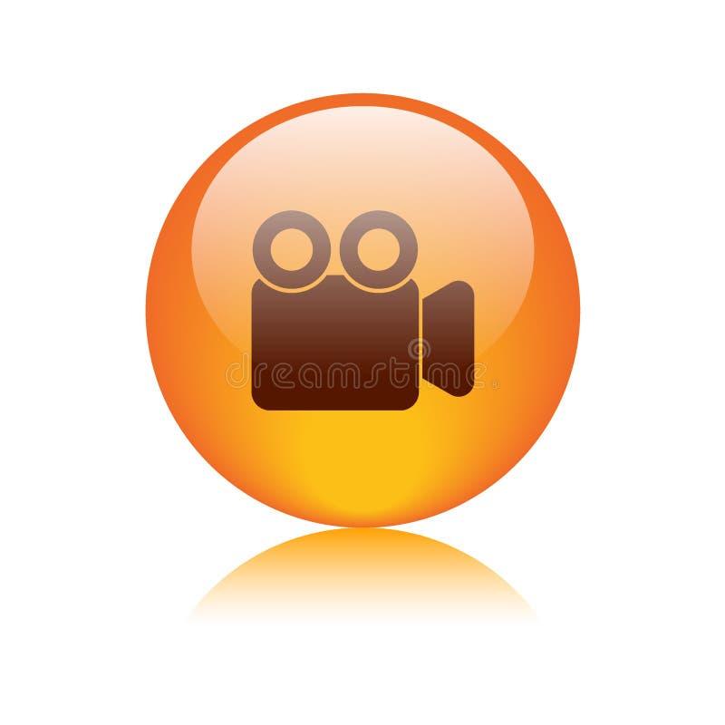 Botão da câmara de vídeo do filme ilustração do vetor