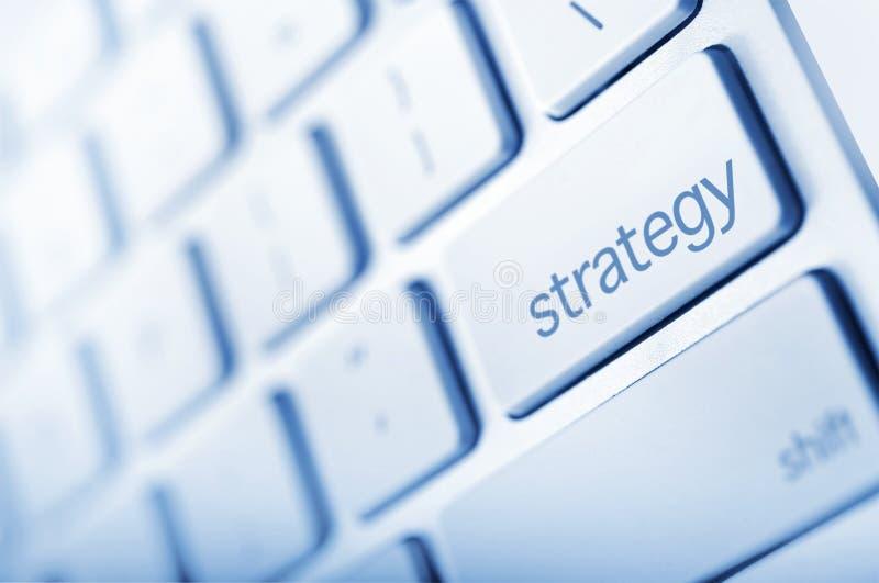 Botão da estratégia imagens de stock