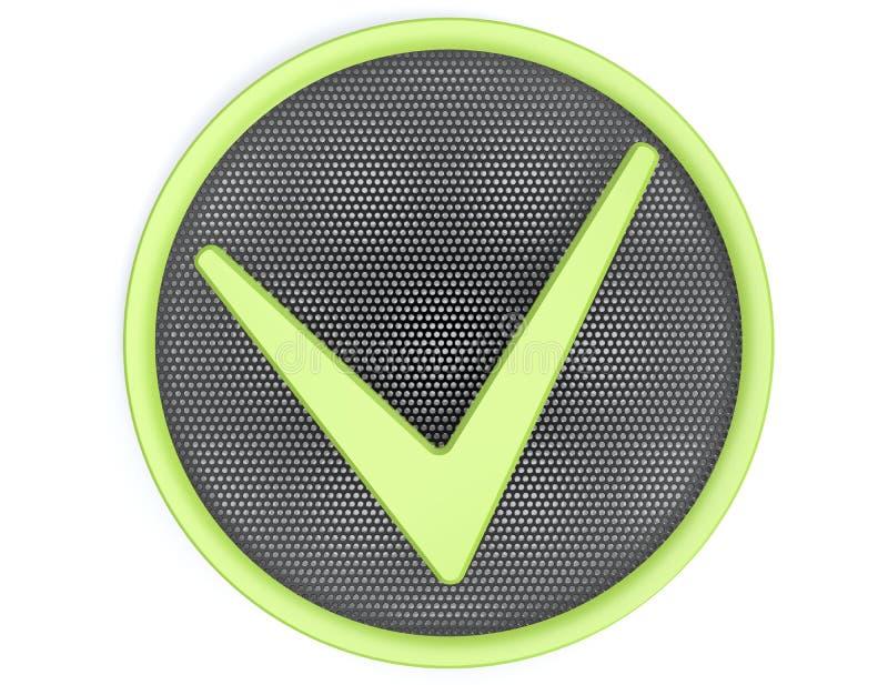 Botão da marca de verificação ilustração royalty free
