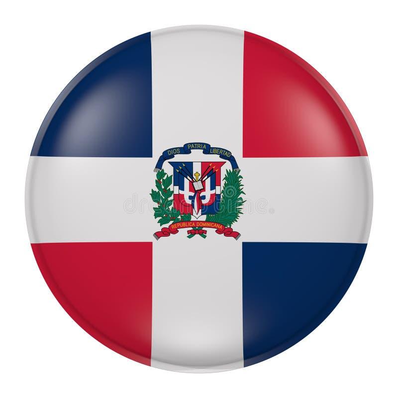 Botão da República Dominicana ilustração royalty free