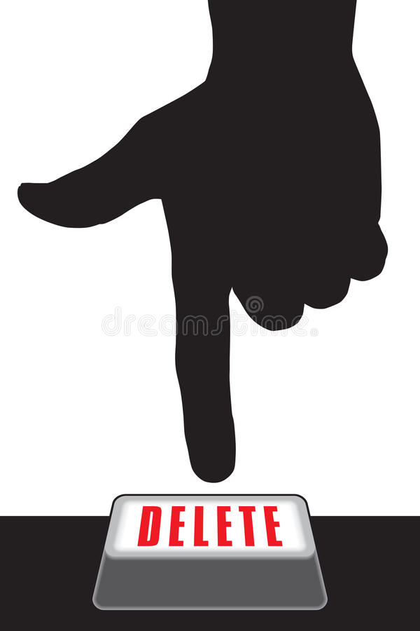 Botão da supressão ilustração do vetor