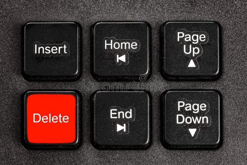 Botão da supressão do acento do teclado imagens de stock