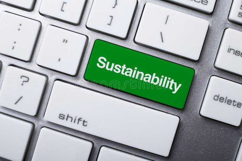 Botão da sustentabilidade no teclado ilustração royalty free
