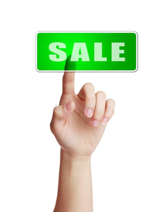 Botão da venda imagens de stock
