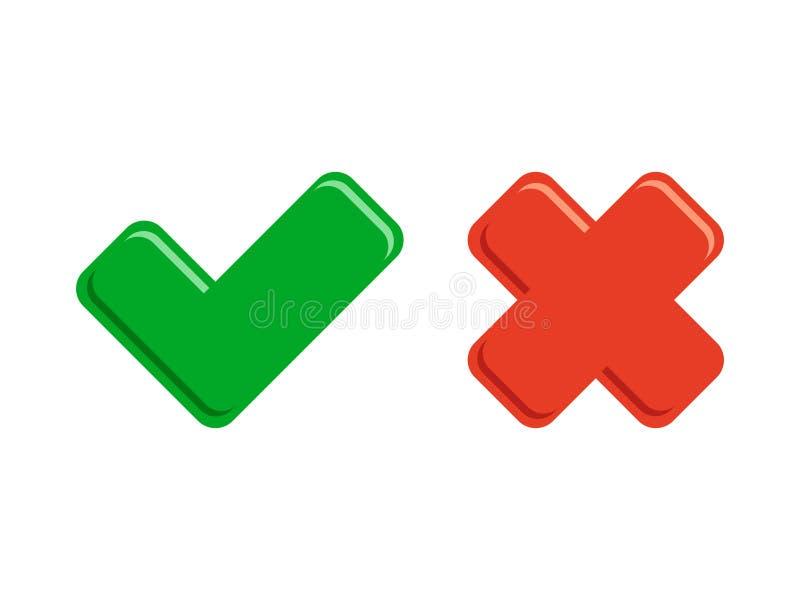 Botão da verificação dos ícones do tiquetaque ilustração royalty free