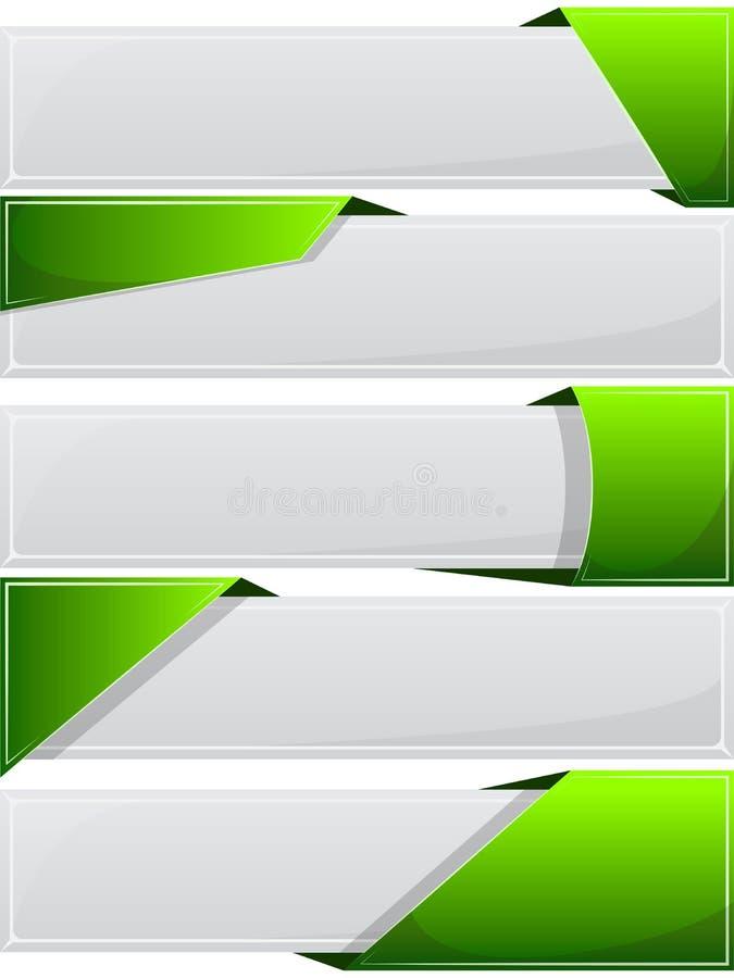 Botão da Web com fita verde ilustração do vetor