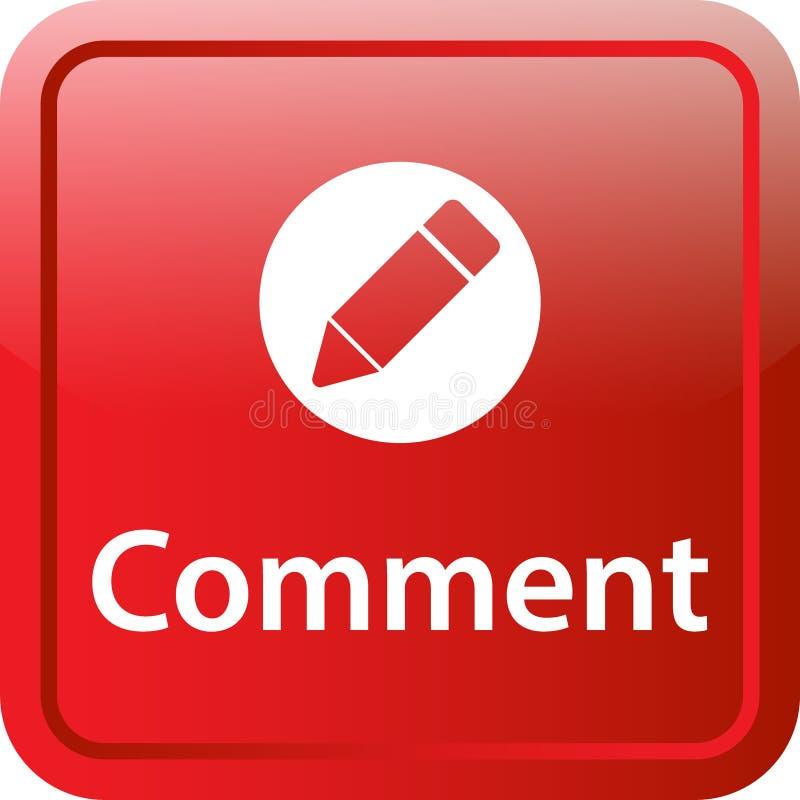 Botão da Web do ícone do comentário ilustração do vetor